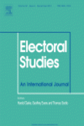 Electoral Studies book cover