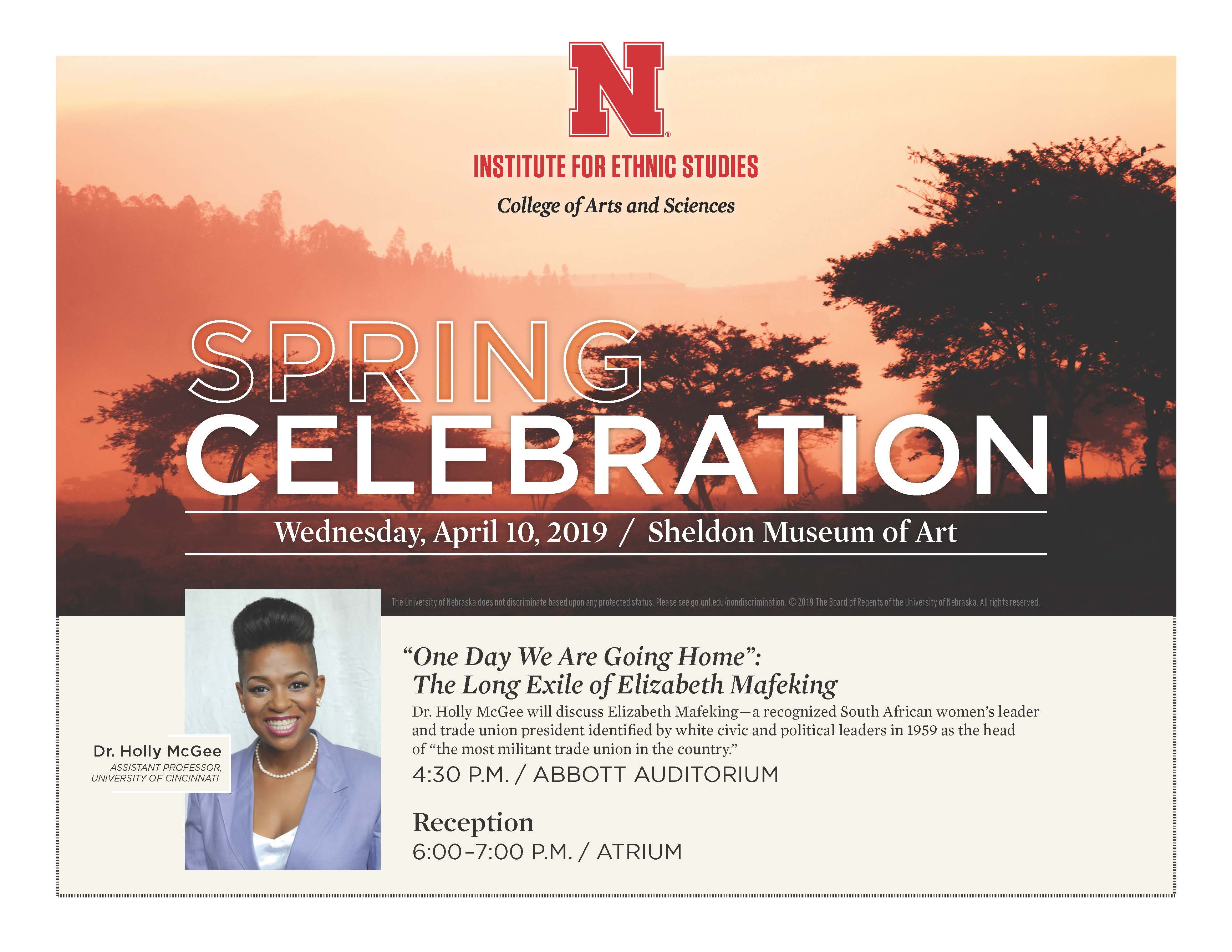 Ethnic Studies welcomes Dr. Holly McGee for the 2019 Spring Celebration