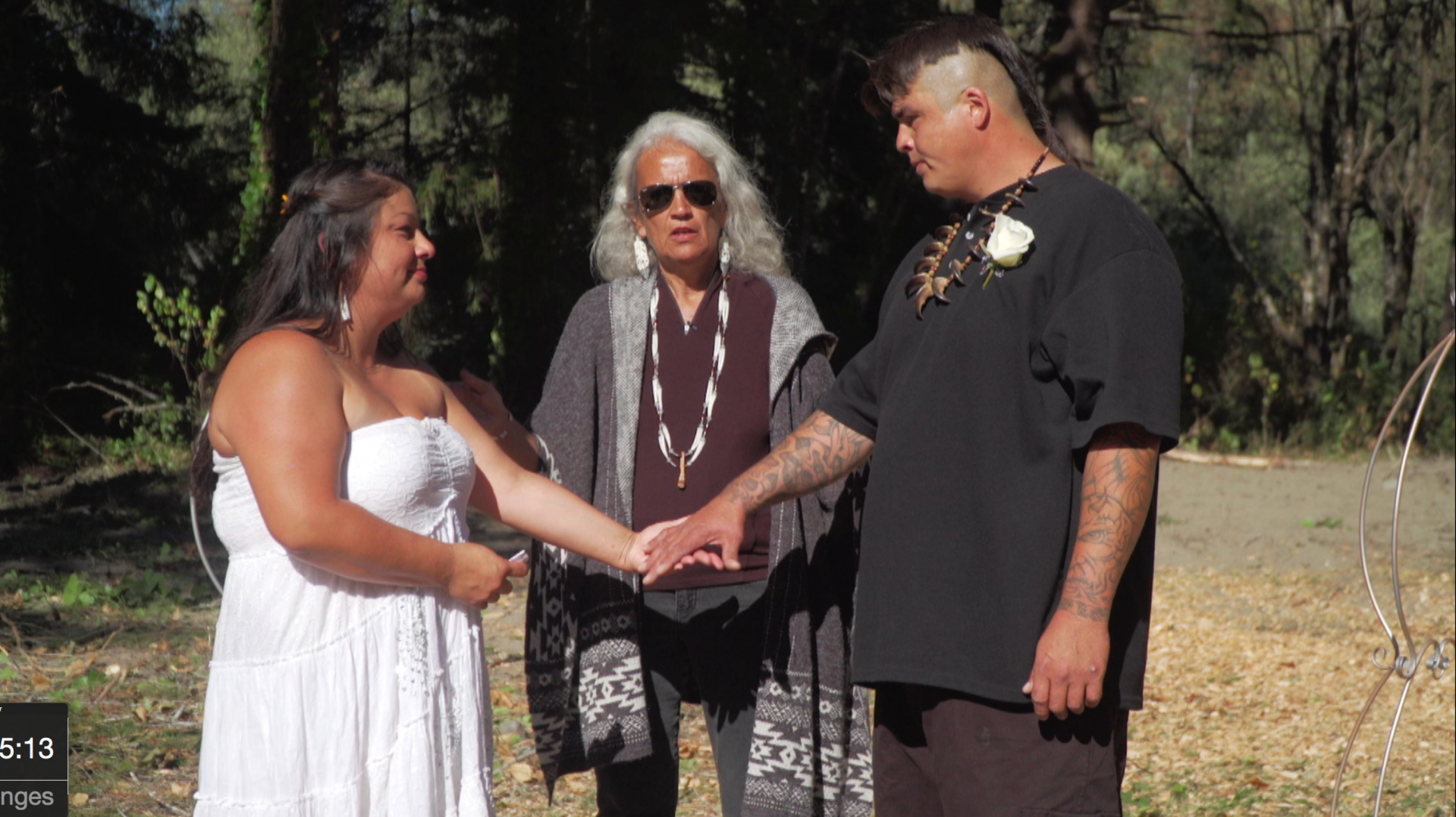Judge Abby Abinanti marries Taos Proctor and Kelly Gibson - photo by Anne Makepeace